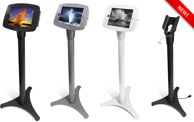 The NEW Space Series - Adjustable iPad Security Floor Stands