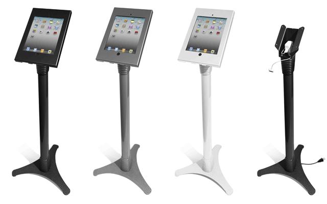 MacLocks Adjustable iPad Stand Kiosk- a Metal Locking iPad2 Enclosure