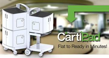 Maclocks - CartiPad - iPad sync and charge cart